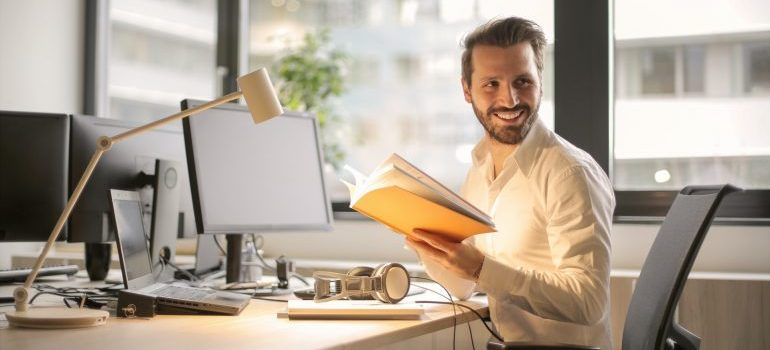 Man sitting in his office and learning about SEO mistakes affiliates make